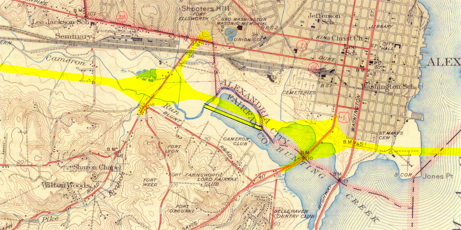 Capital Beltway History - Washington dc interstate map